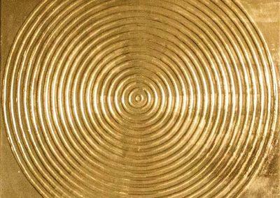 NR-13- Unendlichkeit - 100x100 cm -24 Karat Poliment-Blattvergoldet