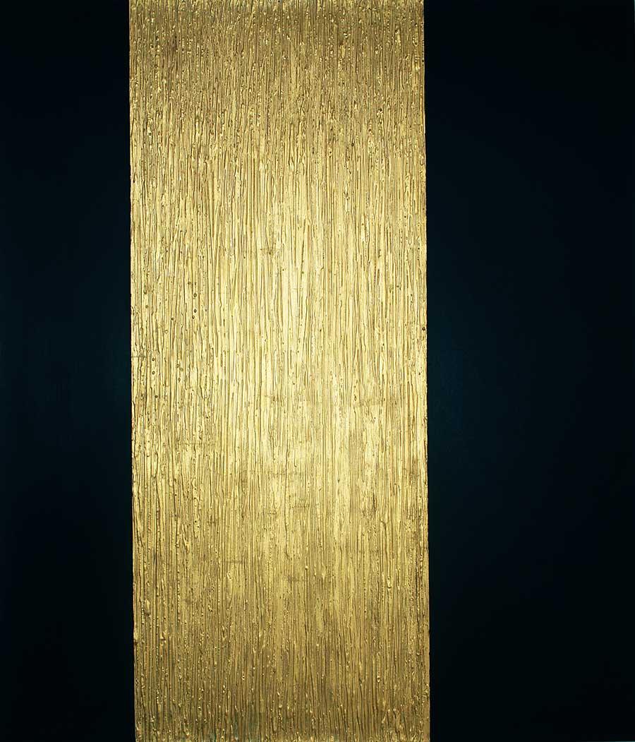 NR-17-Goldregen-120x140 cm -Struktur auf Leinwand - 24 Karat Blattvergoldet