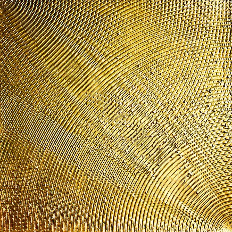 NR-21 Schwingung - 100x100 cm - Struktur auf Leinwand - vergoldet