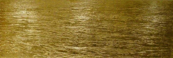 NR 19- Das Meer -240x90 cm - Struktur auf Leinwand - 24 Karat Blattvergoldet