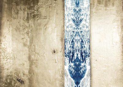 11-Bergwerk - 140 x 120 cm - Leinwanddruck mit Gipsstruktur 24-Karat Blattvergoldet