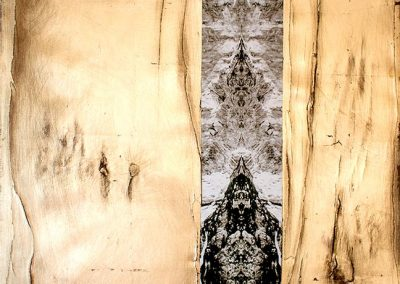 15-Mundewesen - 90 x 90 cm - Leinwanddruck mit Holzfunier - vergoldet