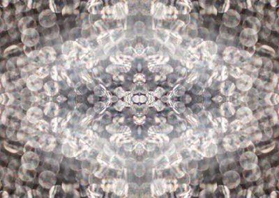 27-Lichtmandala-110x110 cm, Makrofotografie auf Plexyglas