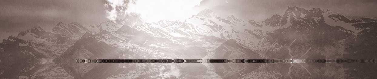 3-Bergpanorama-260 x 60cm-Fotoprint auf Leinwand