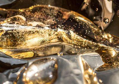 5-Goldwasser aus der Serie Makrofotografie-Gold