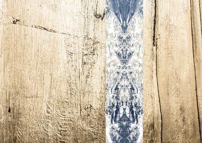 9- Bergwesen - 100 x- 120 cm - Leinwanddruck mit Holzfurnier