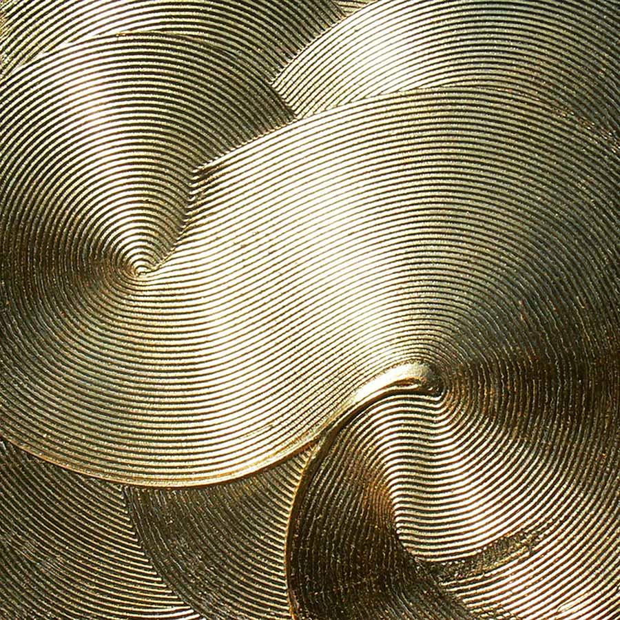NR-15 - Welle- 140x140 cm - Struktur auf Leinwand -Blattvergoldet