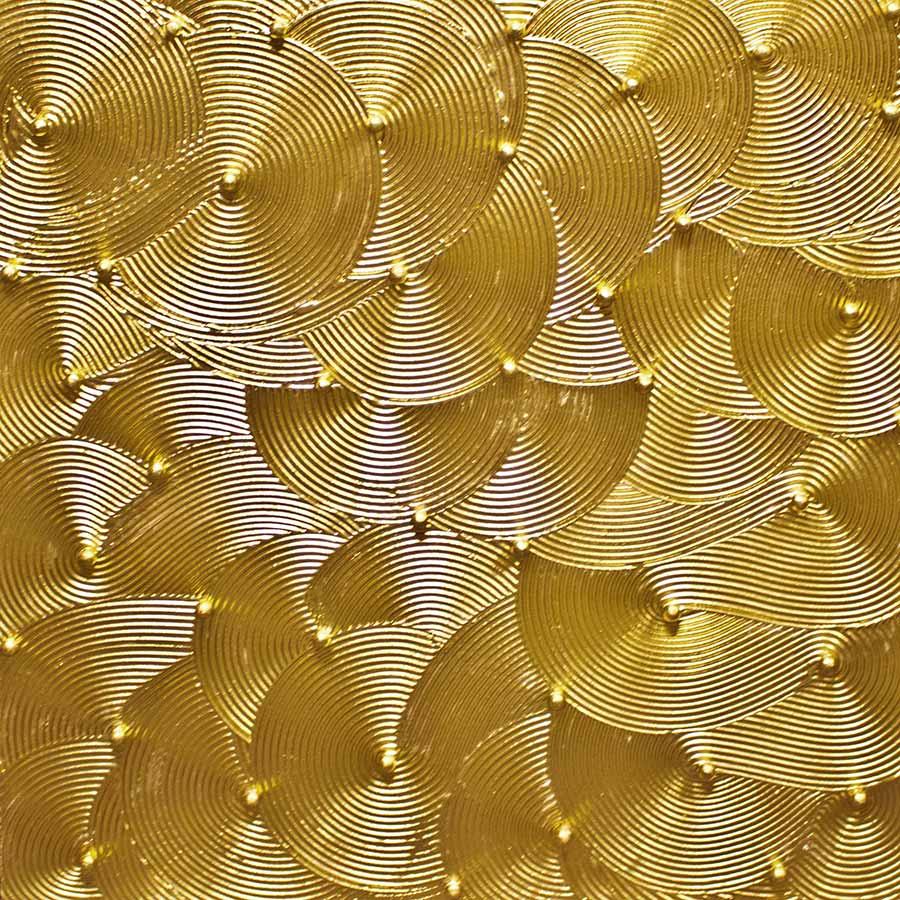 NR.-26 -- Glücksformen - 100x-100 cm - Strucktur auf Leinwand vergoldet