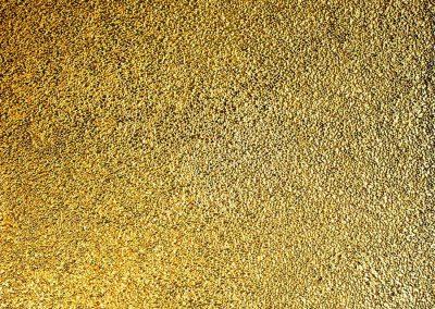 NR 29 - Lichtpünktchen - 140x120 cm - Kügelchen auf Leinwand - goldbronziert