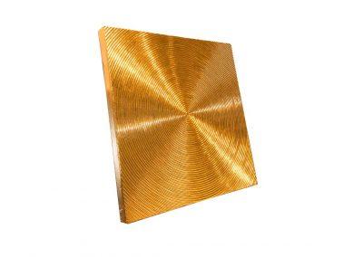 Spiralen- 90cm x 90cm - Struktur auf Leinwand- 24 Karat Blattvergoldet - seitlich
