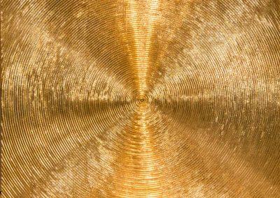 Spiralen- 140cm x 140cm - Struktur auf Leinwand- 24 Karat Blattvergoldet