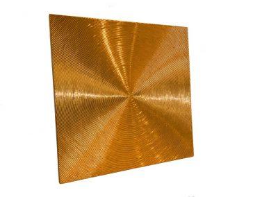 Spiralen- Struktur auf Leinwand- 24 Karat Blattvergoldet